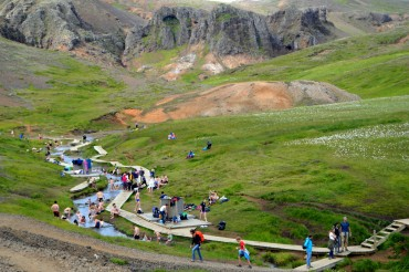 bathe in a hot river in the beautiful reykjadalur valley 10